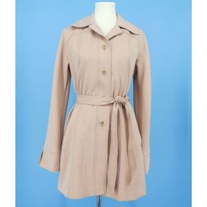 Vintage Foxland by Lanson Dusty Peach Trench Coat